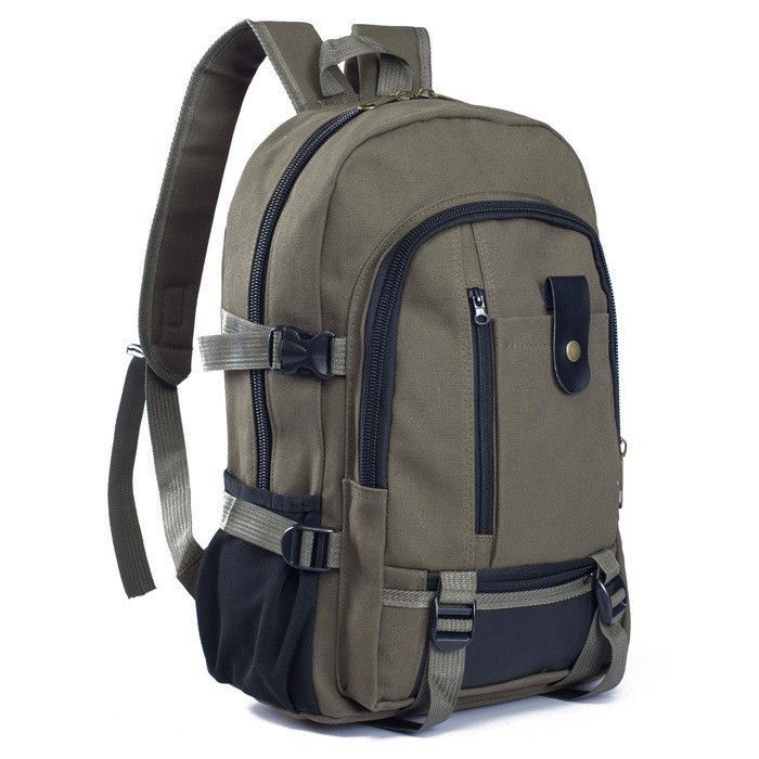 Male fashionable casual canvas backpack middle school students school bag  travel bag large capacity backpack man cc98589162cb3