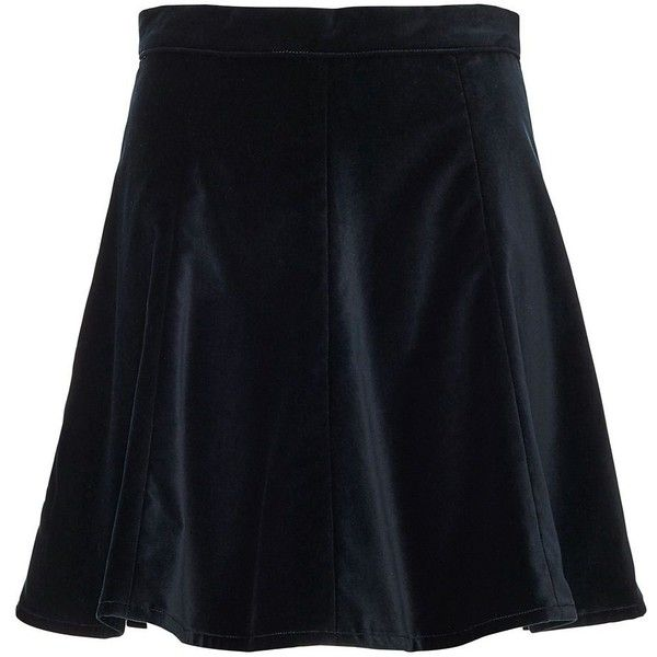 Rag & Bone/JEAN EXCLUSIVE Suki Velvet Skirt (1.925 RUB) ❤ liked on Polyvore featuring skirts, mini skirts, black, circle skirt, rag bone skirt, velvet skater skirt, skater skirt and velvet mini skirt