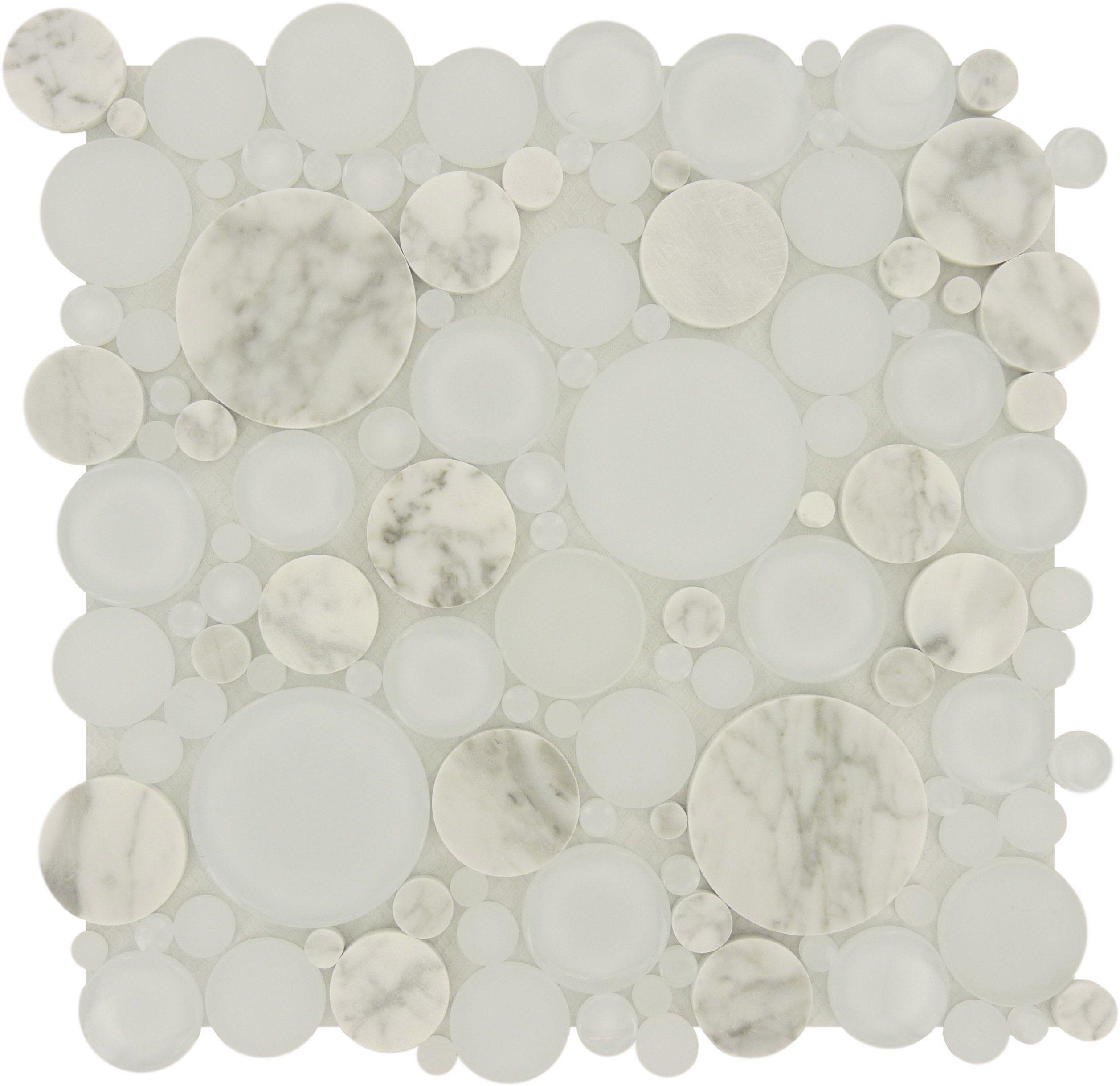 Sheet Size 12 X 12 Tile Size Circles Tiles Per Sheet 120 Tile Thickness 1 4 Grout Joints 1 8 Sheet Mount Green Mosaic Tiles Glitter Tiles Bubble Glass