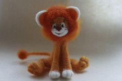 Lionet (Floncat) Tags: orange felting lion lionet