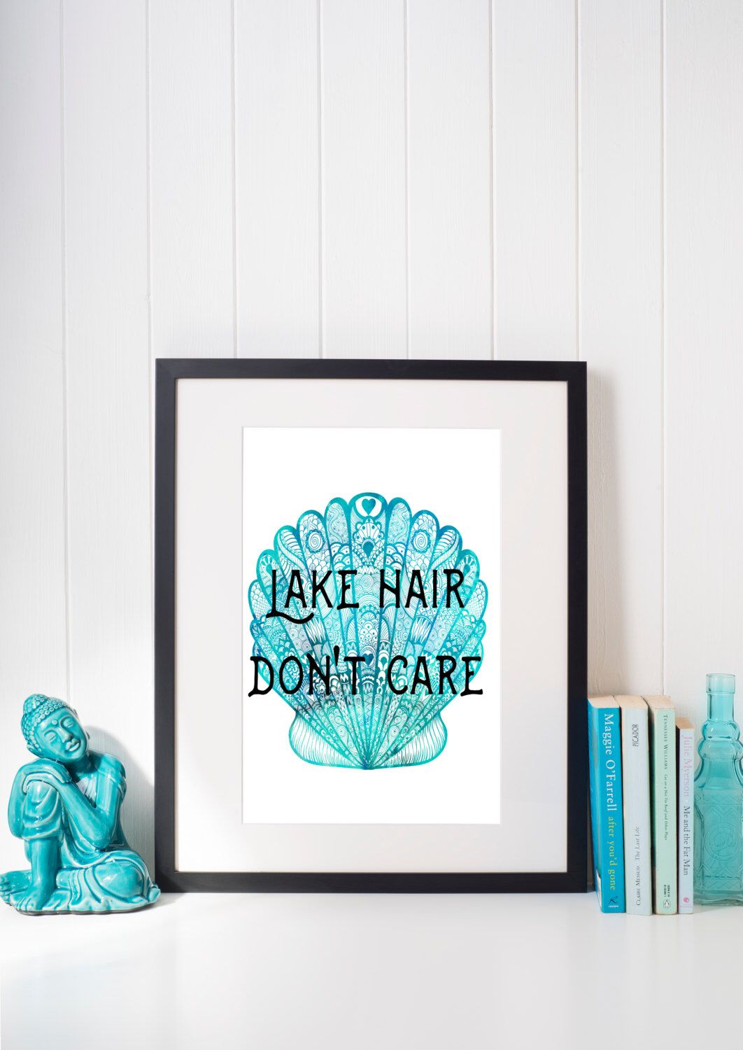 Lake House Wall Art lake hair dont care printable, lake house decor, cabin decor