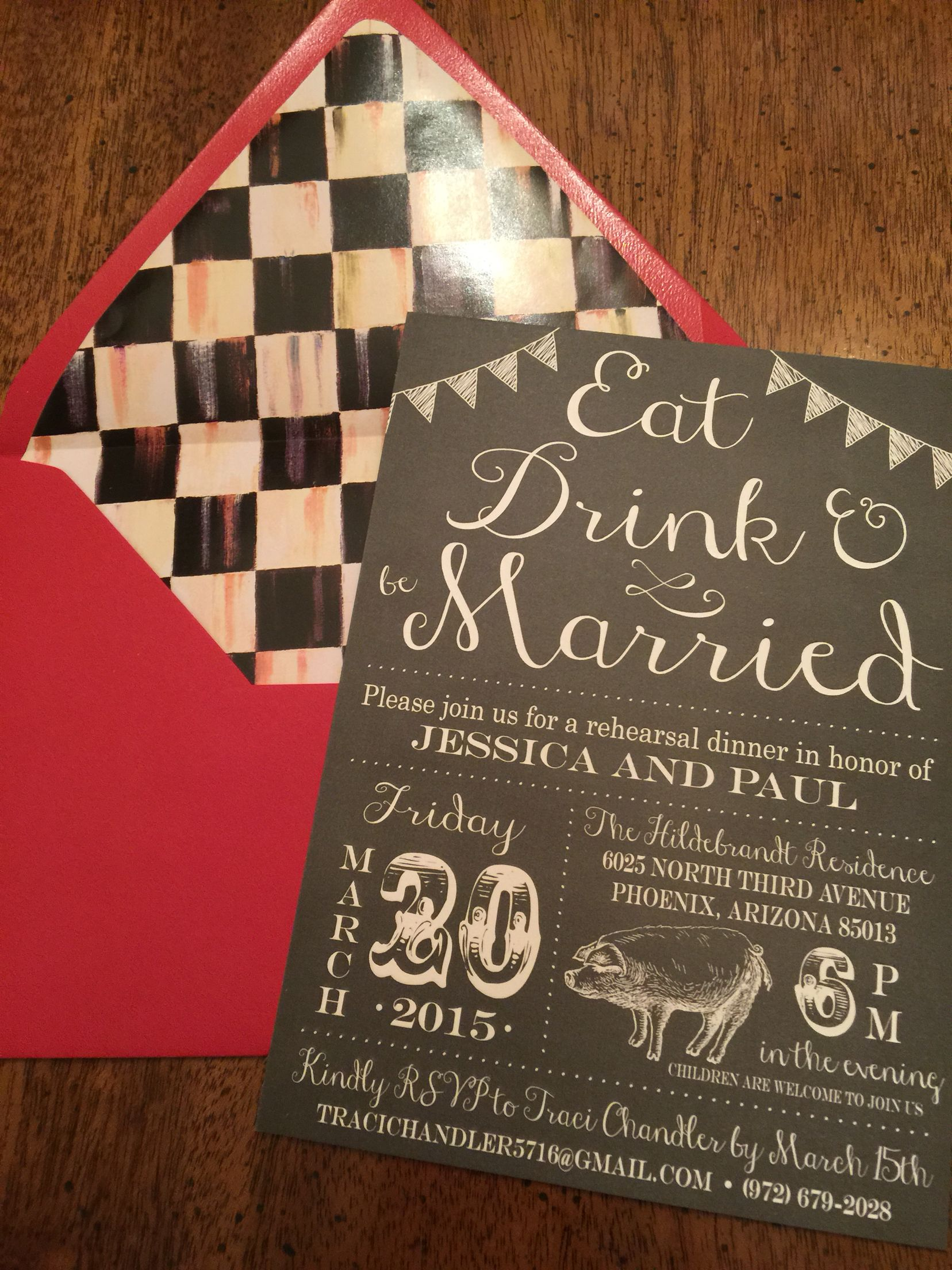 MacKenzie Childs inspired Rehearsal Dinner Invitations | Oh, Sugar ...