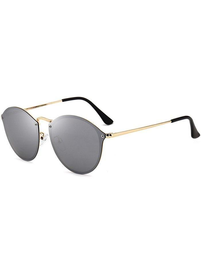 0330dacb7d2  RoseGal -  Rosewholesale Cat Eye Anti UV Mirrored Sunglasses - AdoreWe.com