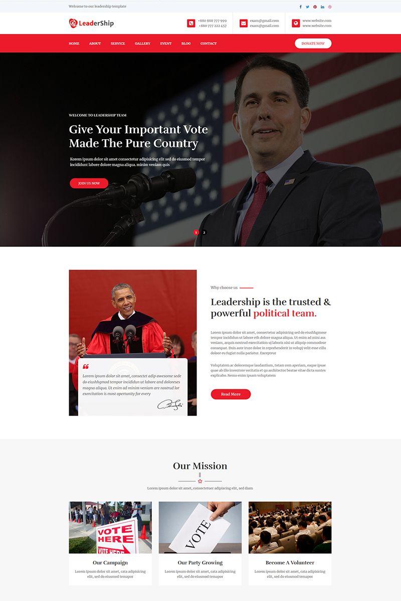 Leadership Political Html5 Website Template Templates For Website