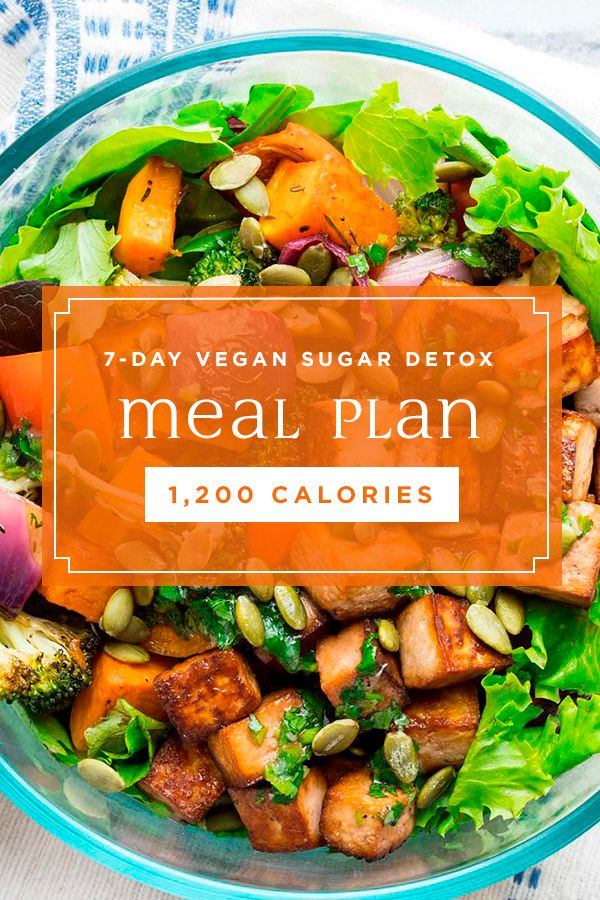 7-Day Vegan Sugar-Detox Meal Plan #sugardetoxplan