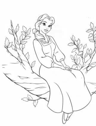 Free Printable Disney S Princess Coloring Book Download Pdf Free Disney Princess Coloring Pages Disney Coloring Pages Belle Coloring Pages