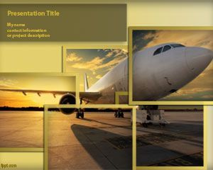 Free Aircraft Powerpoint Template Is A Nice Back Business