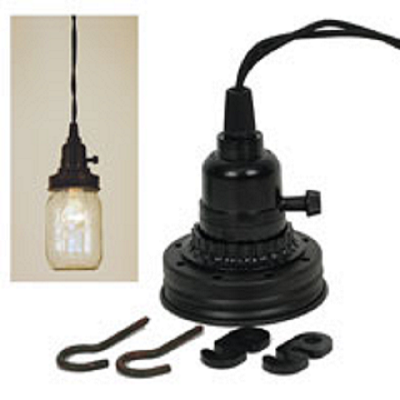 mason jar hanging light kit the kit includes hooks clamps and a - Hanging Lamp Kit