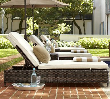 Torrey All Weather Wicker Chaise Lounge Espresso Pool Lounge