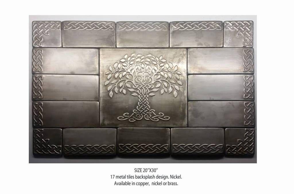 Metal Backsplash Metal Tiles Nickel Wall Copper Or