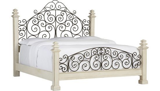 Bedrooms Southport King Poster Bed Distressed White Bedrooms Havertys Furniture Wrought Iron Beds Iron Bed Frame Iron Bed