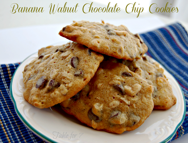 Table for 7: Banana Walnut Chocolate Chip Cookies