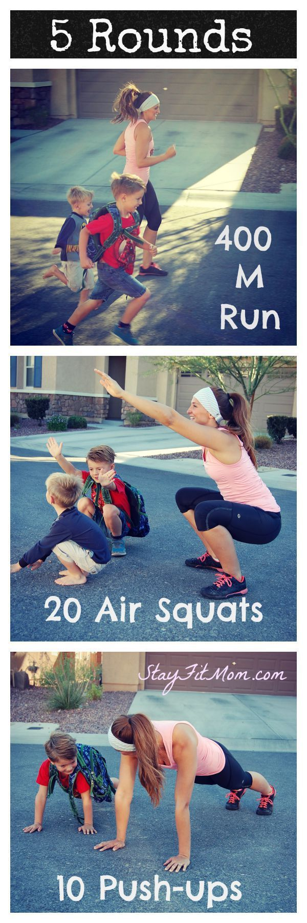 At home CrossFit Workouts you can do with your kids around from http://StayFitMom.com!