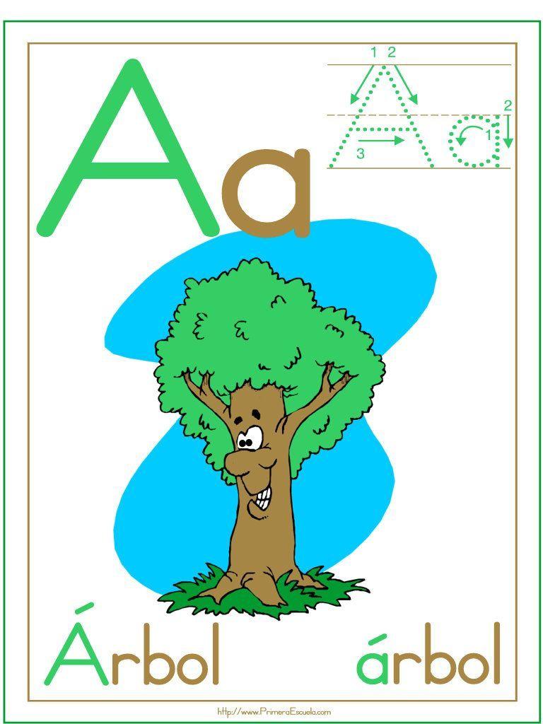 Fichas para imprimir y trabajar la lectoescritura con la vocal A