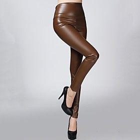 sagetech @ pantalones de terciopelo de cuero ajustados elásticos de las mujeres (más colores)