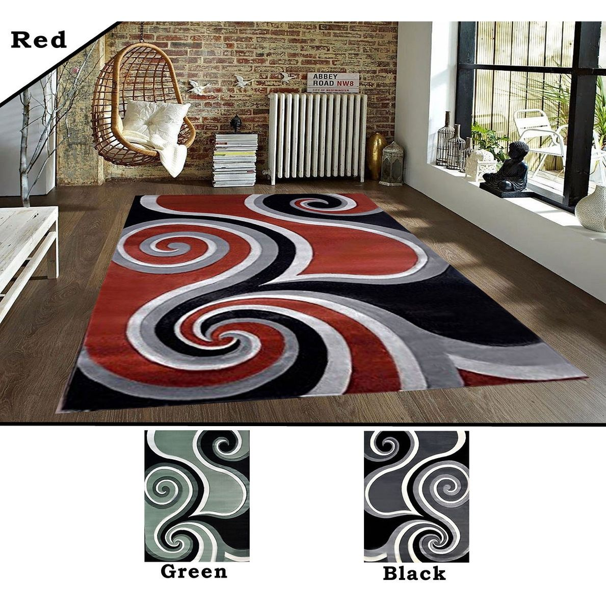 2x7 2 5 3x7 2 8x10 Feet Rug Carpet Area Rug Green Black Red
