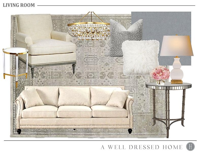 Family Room Makeover with A Well Dressed Home Pinterest Neutral