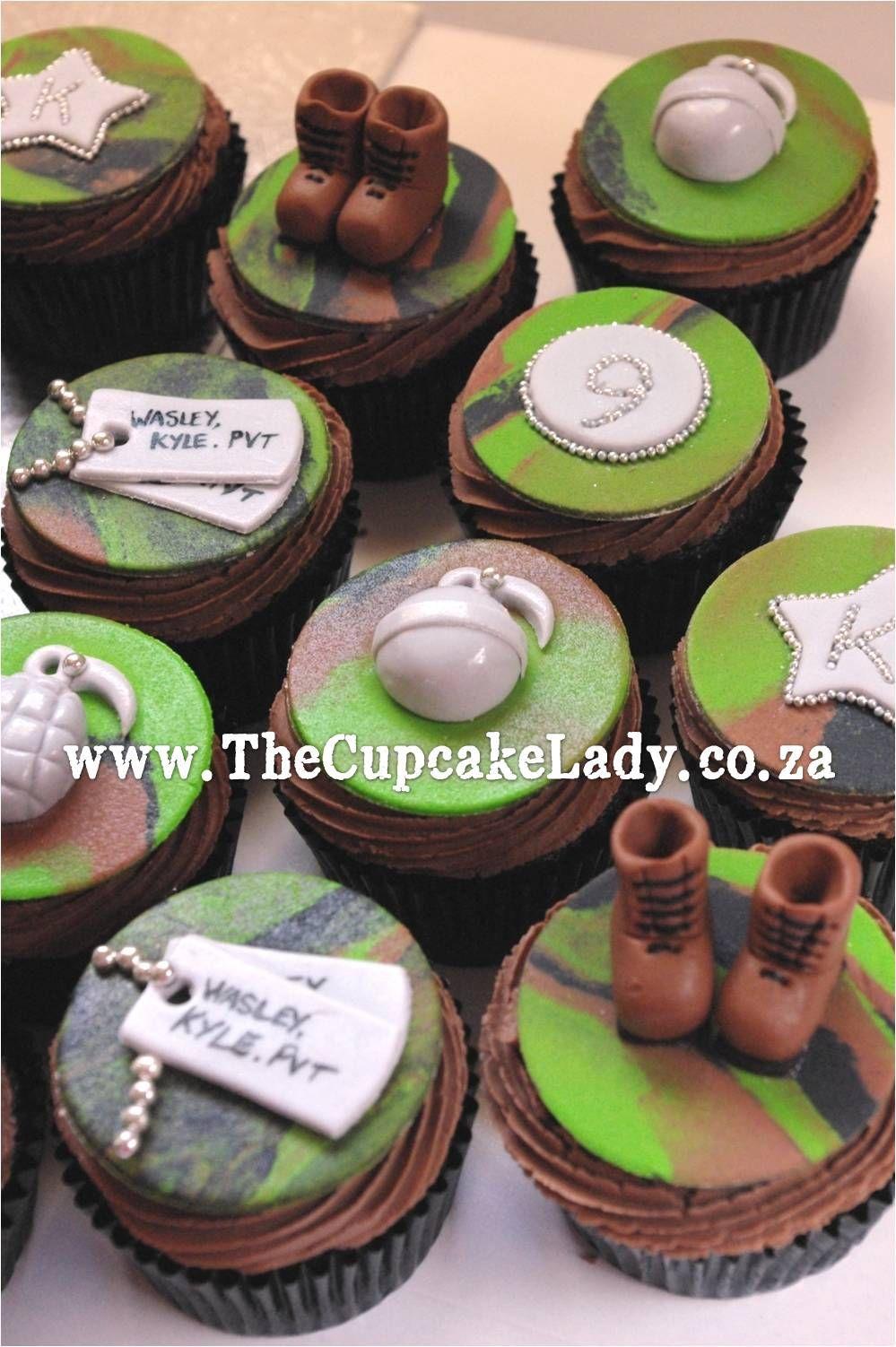 Grenade Pull Apart Cupcake Cake For Boys
