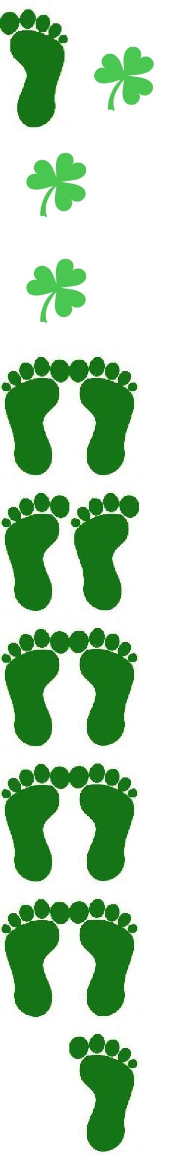 Candid image within leprechaun feet printable