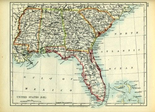 Southeast USA Maps Pinterest - South east usa map