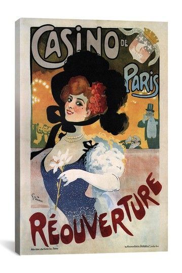 Casino de Paris Reouverture Advertising Vintage Poster on HauteLook.