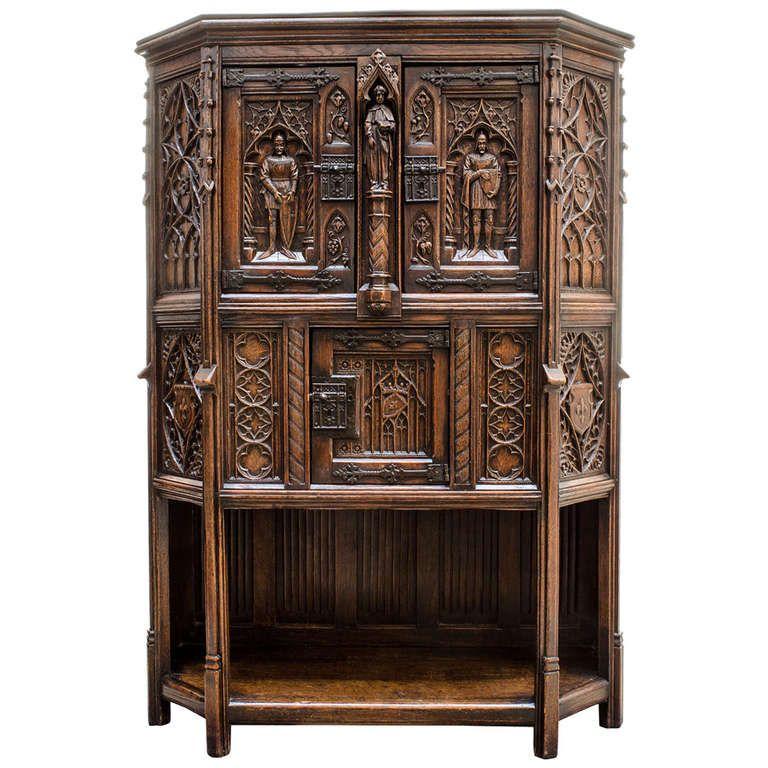 Gothic Cabinet 1stdibs Com Medieval Furniture Baroque Furniture Gothic Furniture
