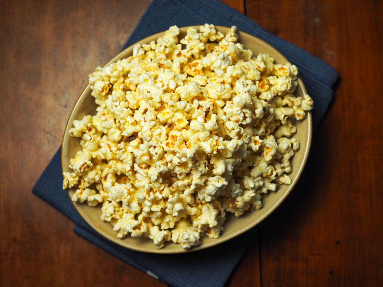 Bagna cauda anchovy garlic popcorn recipe popcorn