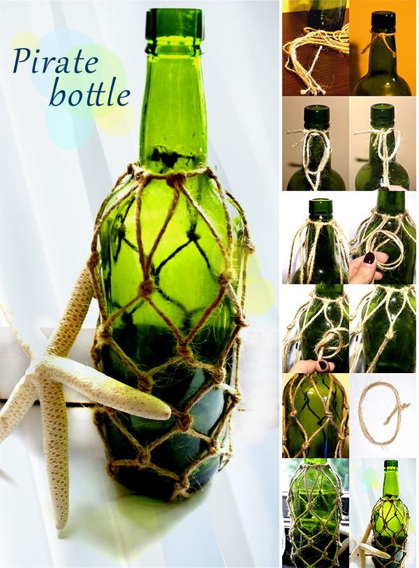DIY Pirate bottle awesome inexpensive diy decor