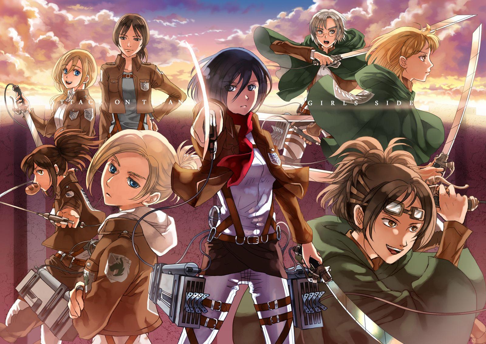 Ketawa Lucu Dan Humor Anime Attack On Titan Wallpaper