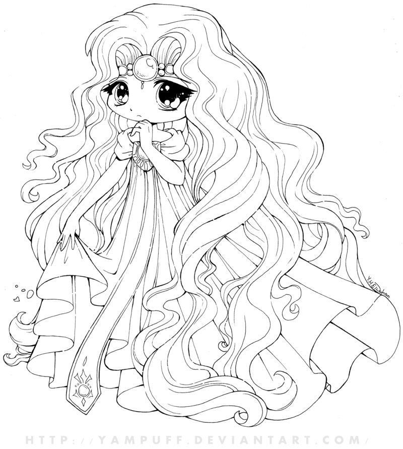 Cute Anime Coloring Pages 3 By Linda Mermaid Coloring Pages