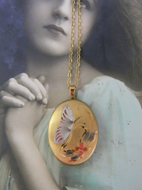 picture reserved blue wedding keepsakes bananachunks something lockets pictures butterfly bridal locket for necklace pin and