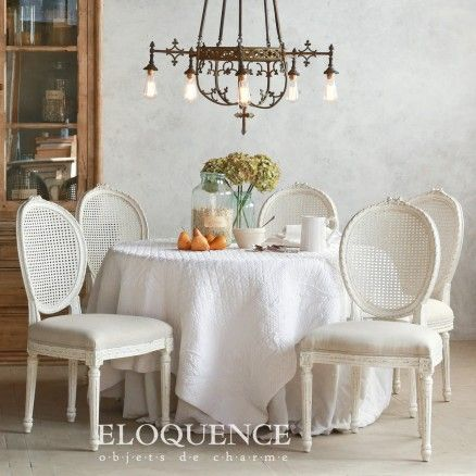 Surprising Eloquence Louis Cane Dining Chair In Antique White 633 00 Caraccident5 Cool Chair Designs And Ideas Caraccident5Info