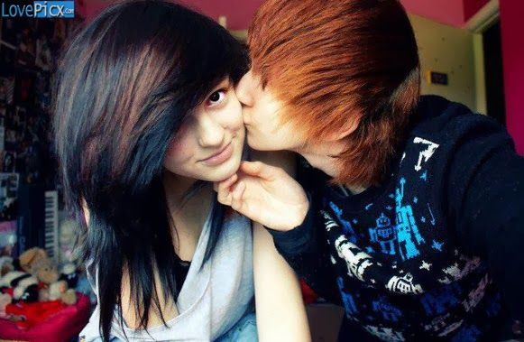 Emo Couple Kiss Romantic Teen Gorgeous Cute Wallpapers Photography Pinterest Emo Couples