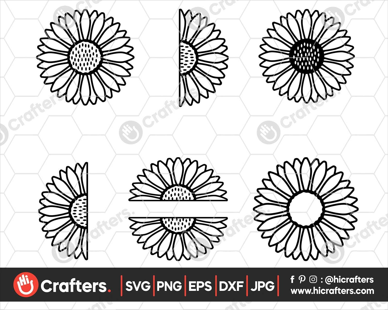 Sunflower SVG, Sunflower Monogram SVG in 2020 (With images