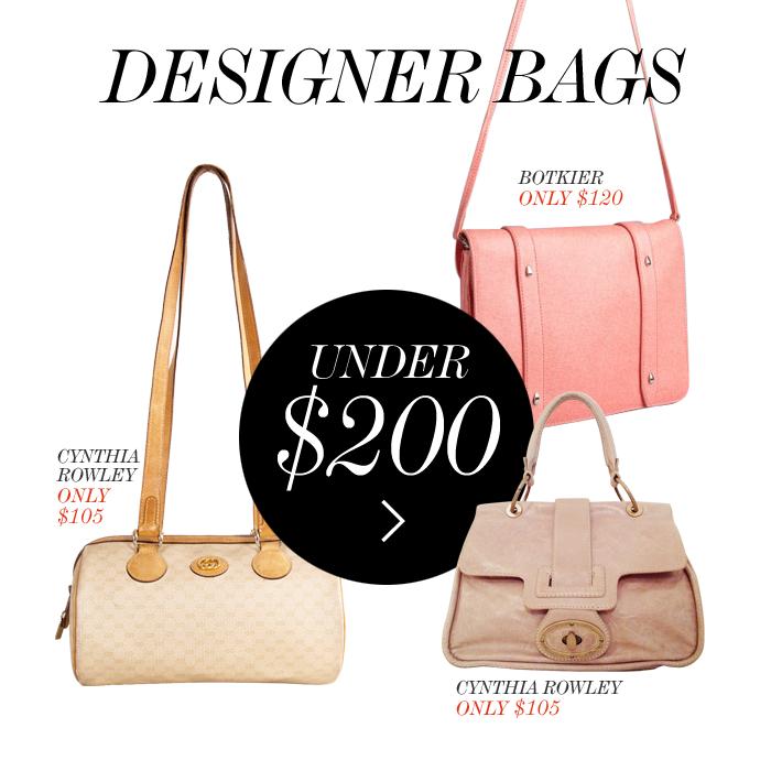 Designer Bags Under 200