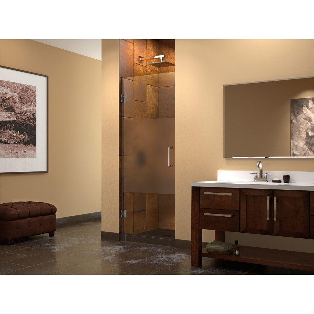Unidoor 28 X 72 Hinged Frameless Shower Door Shower Doors Doors