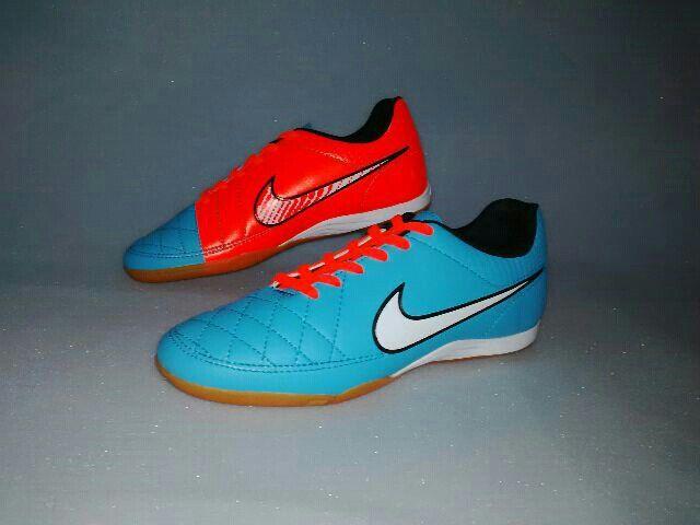 Sepatu Futsal Nike Tiempo Hypershield Orange Birumuda Kw Super