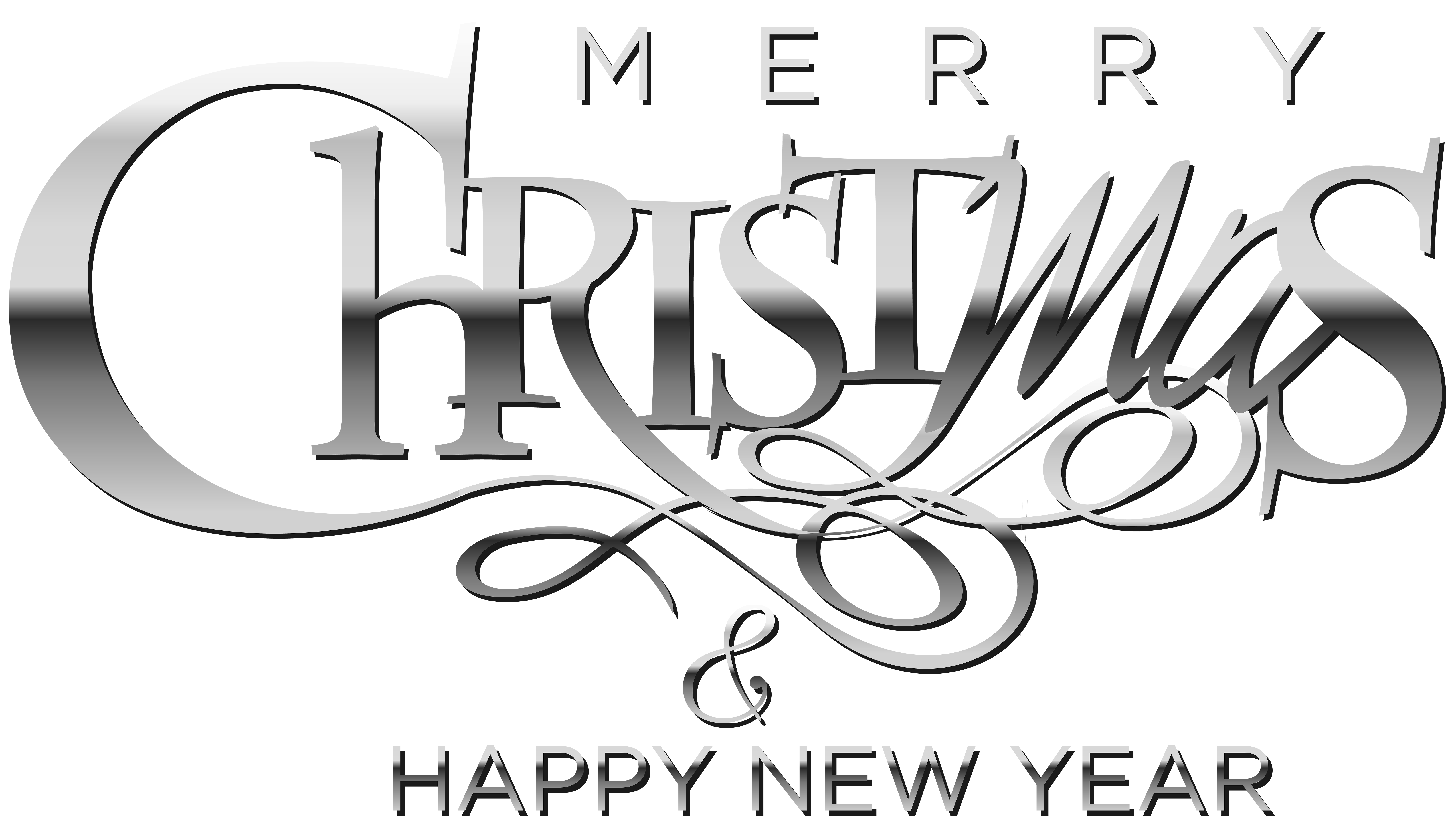 Merry Christmas And Happy New Year Clip Art Gallery Yopriceville High Quality Images And Transp Clip Art Merry Christmas And Happy New Year Happy New Year