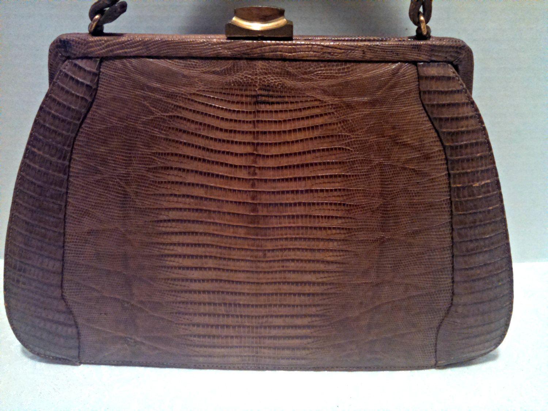 Retro Handbag with Shoulder Strap USSR 1980s Vintage Soviet Silver and Black Faux Leather Snakeskin Clutch