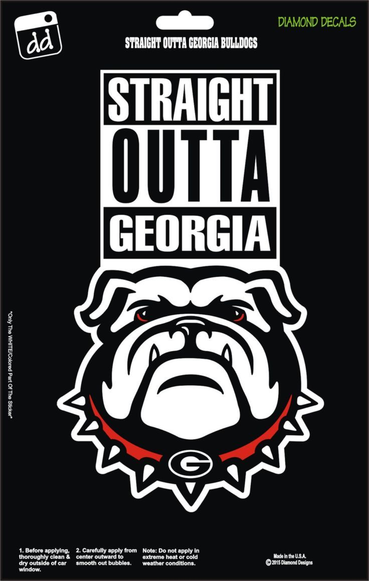 Straight Outta Georgia Bulldogs College Ncaa Football Team Decal Sticker Car Truck Laptop Suv Window B Georgia Bulldogs Georgia Dawgs Georgia Bulldogs Football [ 1159 x 736 Pixel ]