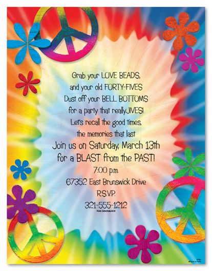 peace love birthday invitations Wedding Stationery Letterhead
