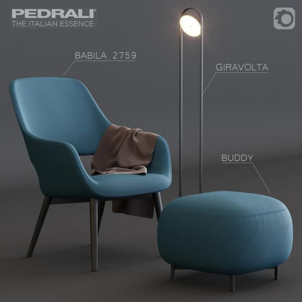 Babila 2759 Armchair 3d Model In 2020 Armchair Furniture