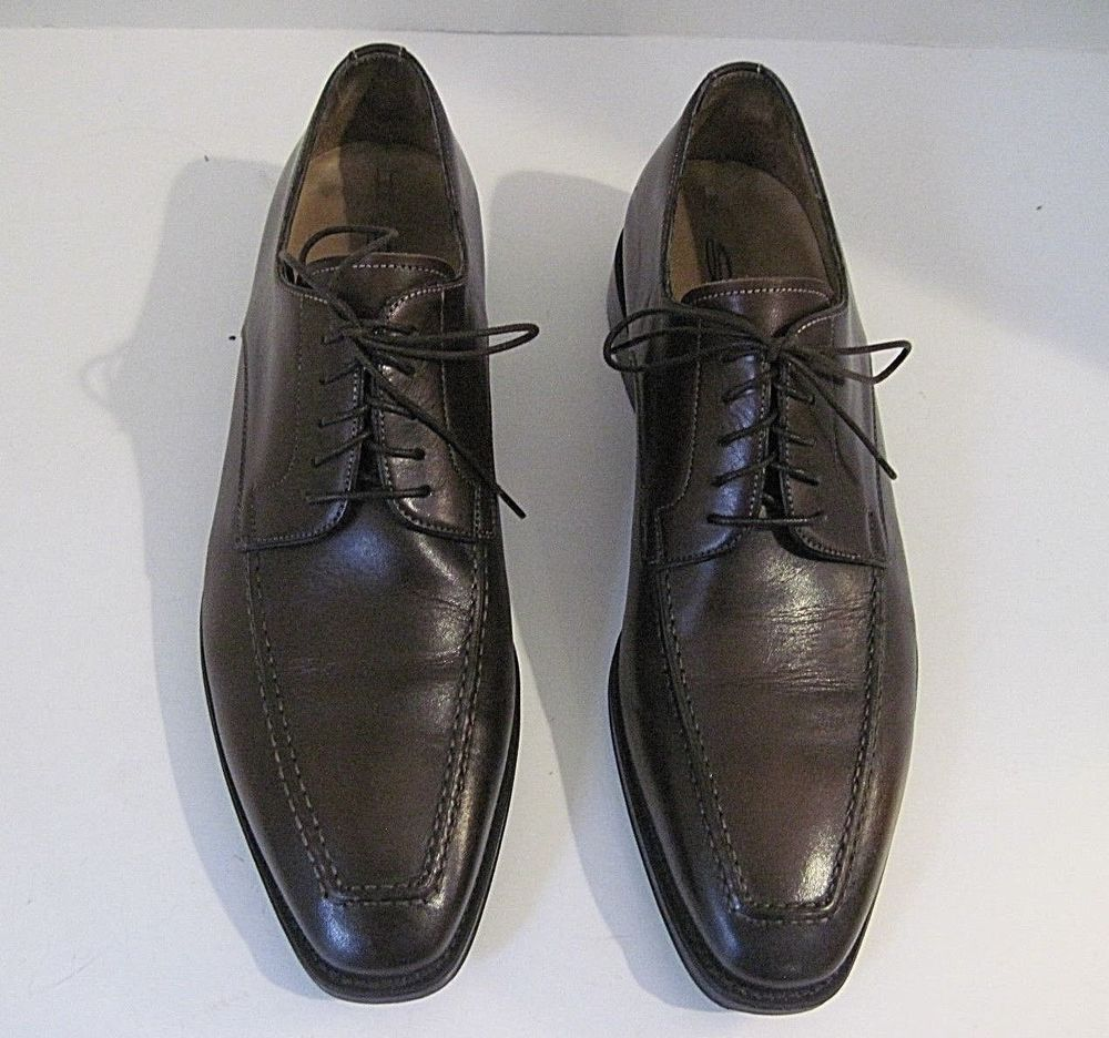 a2632366f SANTONI MEN S BROWN LEATHER LACE UP OXFORDS SHOES SZ 8 D MADE IN ITALY   SANTONI  Oxfords  DressFormalCasual