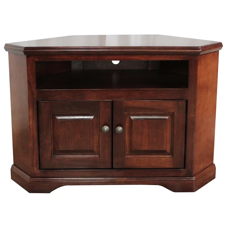 Boltongate Solid Wood Corner Tv Stand For Tvs Up To 65 In 2021 Wood Corner Tv Stand Corner Tv Stand Tv Stand Solid wood corner tv stand