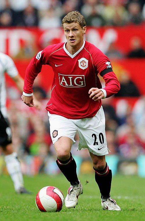 Ole Gunnar Solskjaer Of Manchester United Manchester United Manchester United Legends Manchester United Players