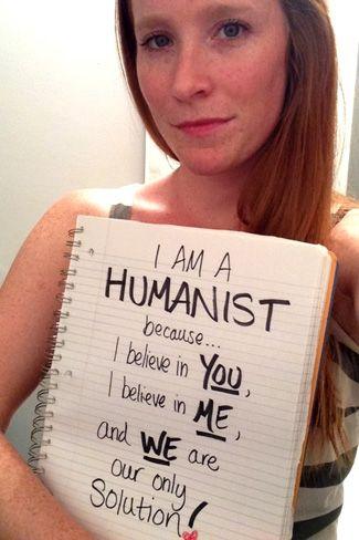 Soy humanista porque creo en ti, creo en mí y es nuestra única solución.