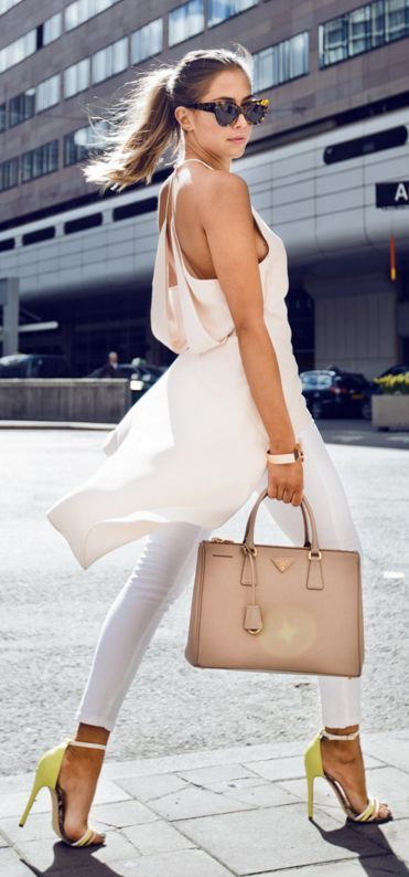 Spring Street Style Chic / karen cox.  Light Neutrals  Outfit Idea by Kenzas
