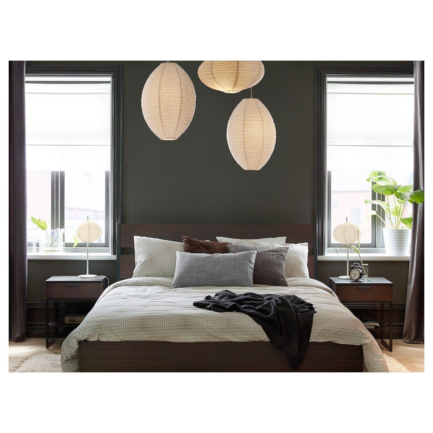Ikea Trysil Bed Frame Dark Brown Luroy Ikea Bed Frames Bed Frame Ikea Bed