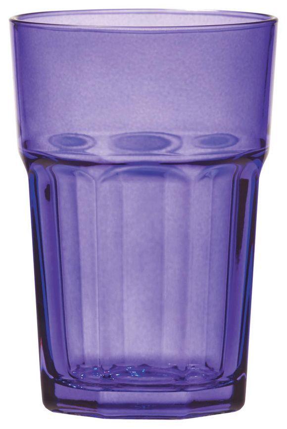 Dieses Trinkglas aus dem Hause NOVEL besticht durch hohe Qualität und geschmackvolles Design. Das Glas besteht aus transparentem Glas und überzeugt durch eine trendige Form. Dabei präsentiert sich das Trinkglas in charmantem Lila und besitzt ein Fassungsvermögen von ca. 360 ml. Aus diesem hochwertigen Glas trinken Sie gerne!
