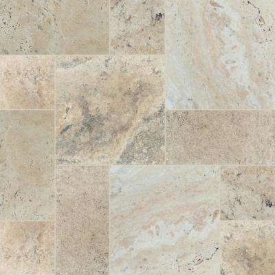 Philadelphia Pattern Honed Unfilled Chipped Brushed Travertine Floor And Wall Tile 5 Kits 80 Sq Ft Pallet In 2020